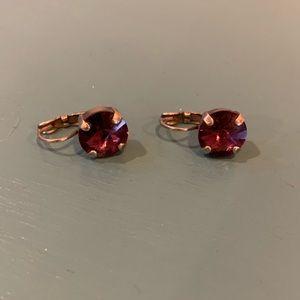 Sabika purple earrings great condition